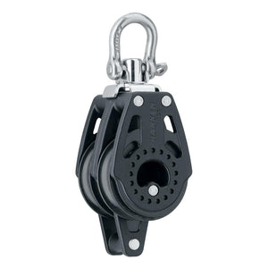 Harken 40mm Carbo Air Double Swivel Block w/Becket [2639] - Point Supplies Inc.