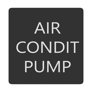 Blue Sea 6520-0030 Square Format Air Conditioner Pump Label [6520-0030] - Point Supplies Inc.