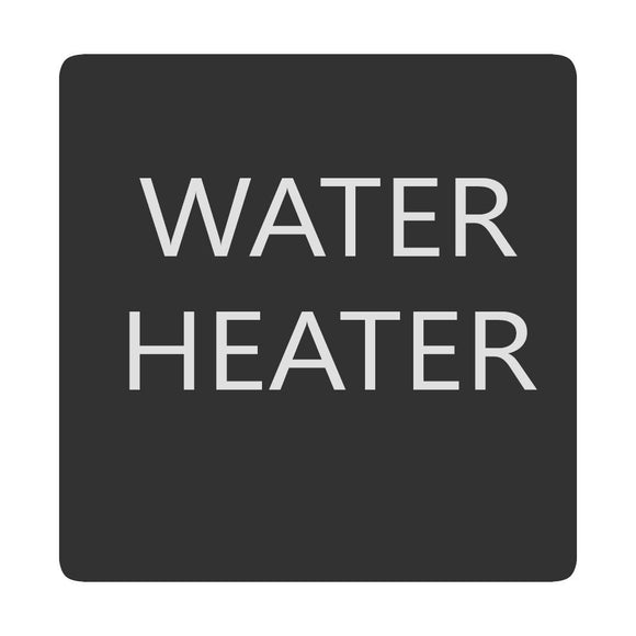 Blue Sea 6520-0438 Square Format Water Heater Label [6520-0438] - Point Supplies Inc.