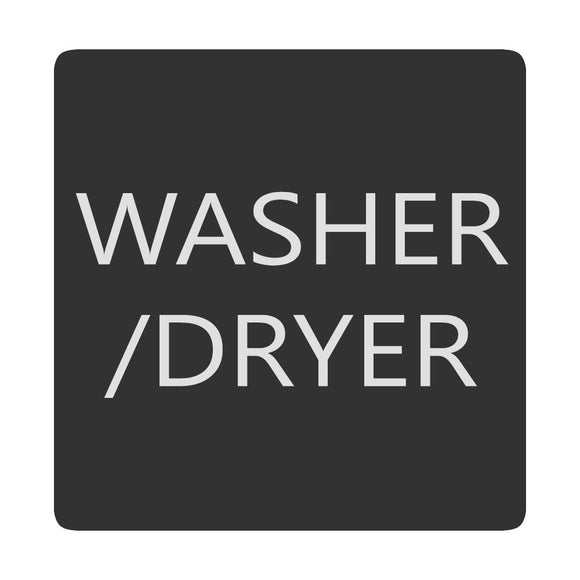 Blue Sea 6520-0436 Square Format Washer - Dryer Label [6520-0436] - Point Supplies Inc.