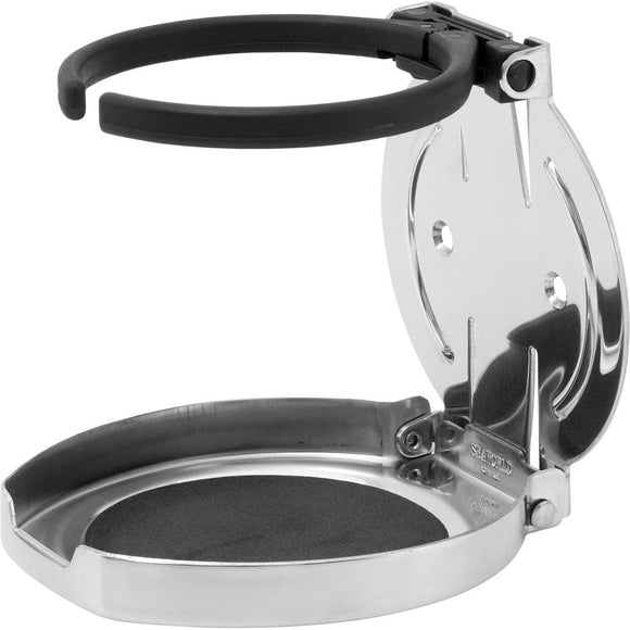 Sea-Dog Adjustable Folding Drink Holder - 304 Stainless Steel [588250-1] - Point Supplies Inc.