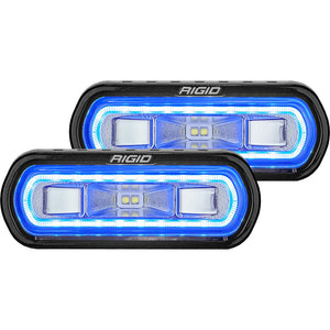 RIGID Industries SR-L Series Surface Mount Spreader Light - Black Housing - Blue Halo [53121] - Point Supplies Inc.