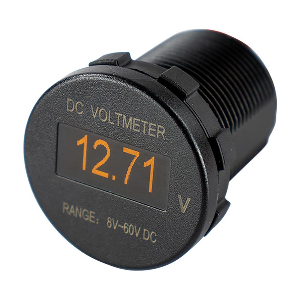 Sea-Dog OLED Voltmeter - Round [421600-1] - point-supplies.myshopify.com