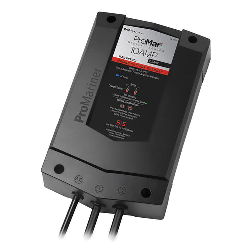 ProMariner ProMar1 DS Digital - 10 Amp - 2 Bank Charger [31510]