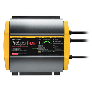ProMariner ProSportHD 8 Gen 4 - 8 Amp - 2 Bank Battery Charger [44008] - Point Supplies Inc.