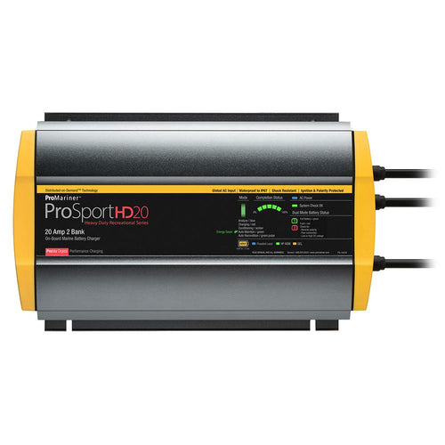 ProMariner ProSportHD 20 Global Gen 4 - 20 Amp - 2 Bank Battery Charger [44028] ProMariner Point Supplies Inc.