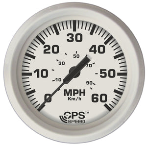 "Faria Dress White 4"" GPS Speedometer - 60 MPH [33147]"