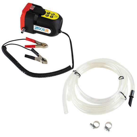 Sea-Dog Oil Change Pump w/Battery Clips - 12V [501072-3] - Point Supplies Inc.