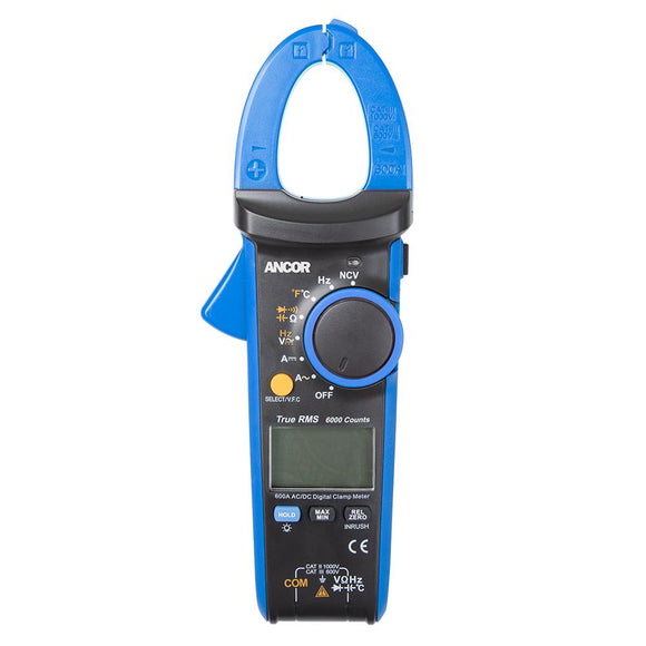 Ancor True RMS 12 Function Digital Snap-Around Meter [703079] - Point Supplies Inc.