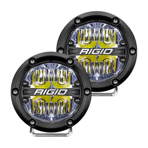 "RIGID Industries 360-Series 4"" LED Off-Road Fog Light Drive Beam w/White Backlight - Black Housing [36117] - Point Supplies Inc."
