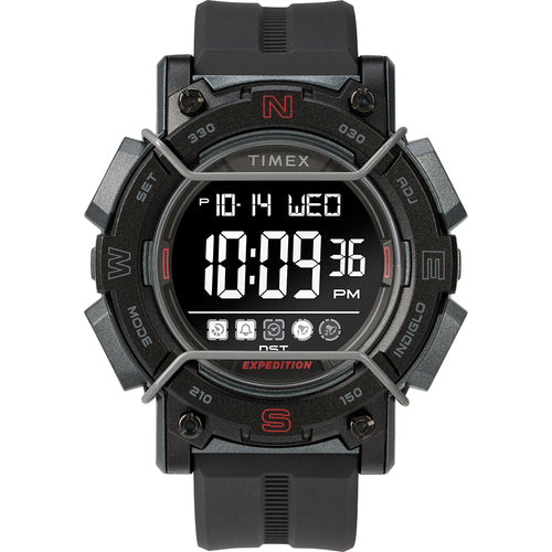 Timex Expedition Digital Face 47mm - Black Screen w-Black Resin Strap [TW4B17900JV]