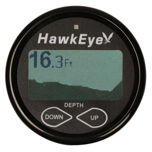 HawkEye DepthTrax 2BX In-Dash Digital Depth  Temp Gauge - Transom Mount - 600 [DT2BX-TM] - point-supplies.myshopify.com