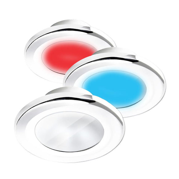 i2Systems Apeiron A3120 Screw Mount Light - Red, Warm White  Blue - White Finish [A3120Z-31HCE] - Point Supplies Inc.