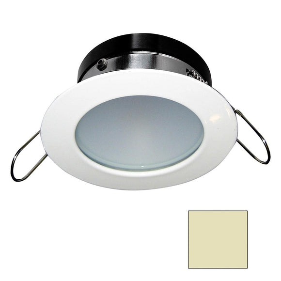 i2Systems Apeiron A1110Z - 4.5W Spring Mount Light - Round - Warm White - White Finish [A1110Z-31CAB] - Point Supplies Inc.