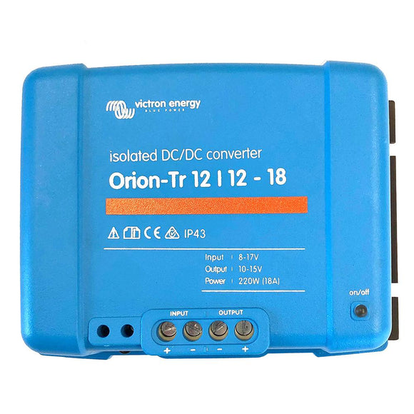 Victron Orion-TR DC-DC Converter - 12 VDC to 12 VDC - 18AMP Isolated [ORI121222110] - point-supplies.myshopify.com