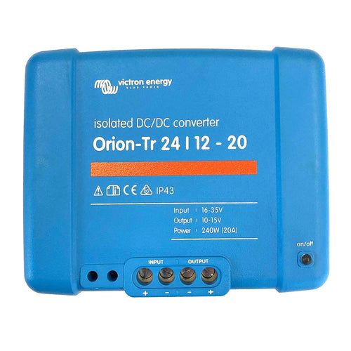 Victron Orion-TR DC-DC Converter - 24 VDC to 12 VDC - 20AMP Isolated [ORI241224110] - point-supplies.myshopify.com