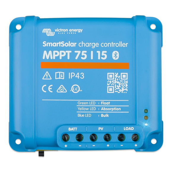 Victron SmartSolar MPPT Charge Controller - 75V - 15AMP [SCC075015060R] - point-supplies.myshopify.com