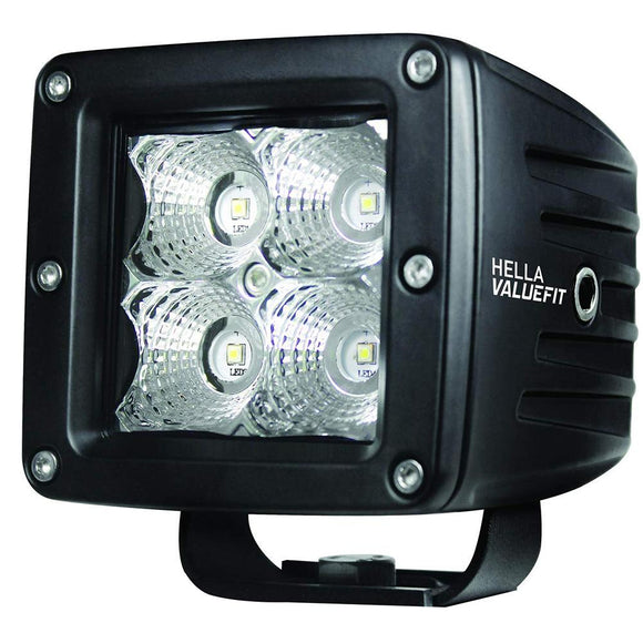Hella Marine Value Fit LED 4 Cube Flood Light - Black [357204031] - Point Supplies Inc.