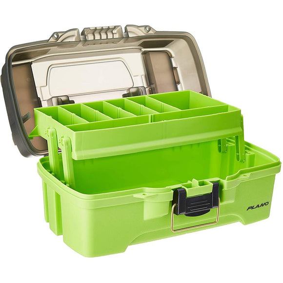 Plano 1-Tray Tackle Box w/Dual Top Access - Smoke  Bright Green [PLAMT6211] - Point Supplies Inc.
