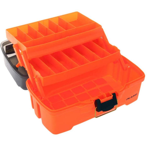 Plano 2-Tray Tackle Box w/Dual Top Access - Smoke  Bright Orange [PLAMT6221] - Point Supplies Inc.