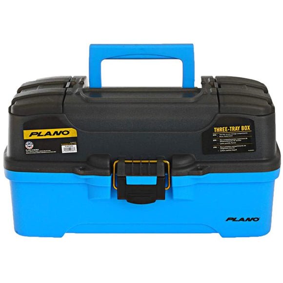 Plano 3-Tray Tackle Box w/Dual Top Access - Smoke  Bright Blue [PLAMT6231] - Point Supplies Inc.