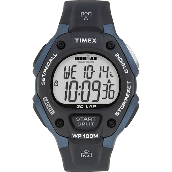 Timex IRONMAN Classic 30 Full-Size 38mm Watch - Grey/Blue [T5H591]