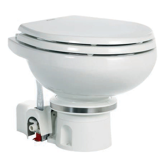 Dometic MasterFlush 7120 White Electric Macerating Toilet w/Orbit Base - Fresh Water [9108824451]
