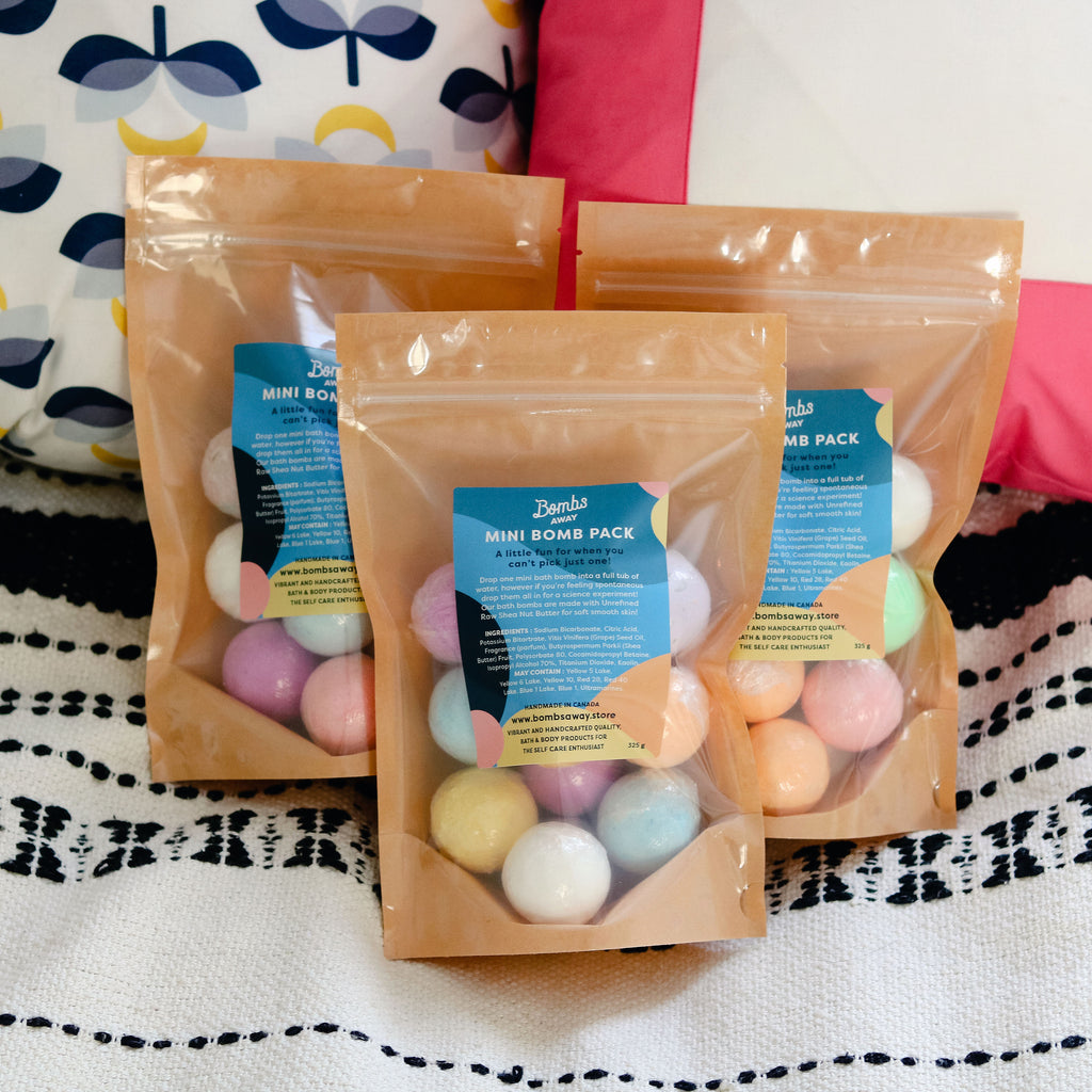 Mini Bath Bombs Variety Pack from Bombs Away Handmade in Manitoba