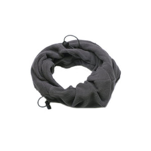 Outdoor Winter Thermal Fleece Full Face Mask Hat Neck Warmer (Grey)