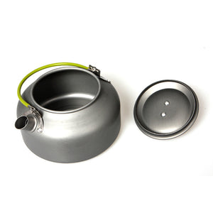 Outdoor Coffee Teapot Camping Hiking Picnic BBQ Kettle Water Pot Aluminum#FC22