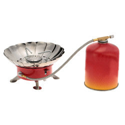Outdoor Portable Retracted Windproof Camping Backpacking Gas Stove Camping Equipment for Flat Butane Gas Cartridge