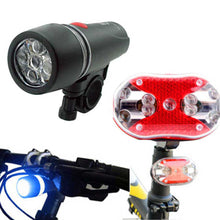 1PC Bicycle Bike 5 LED Front Head Torch Light 9 LED Back Rear Tail Flashlight  Lamp Accessories