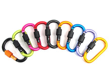5 Pieces Aluminum Carabiner Screw Lock D-ring  Keychains Buckle Clip