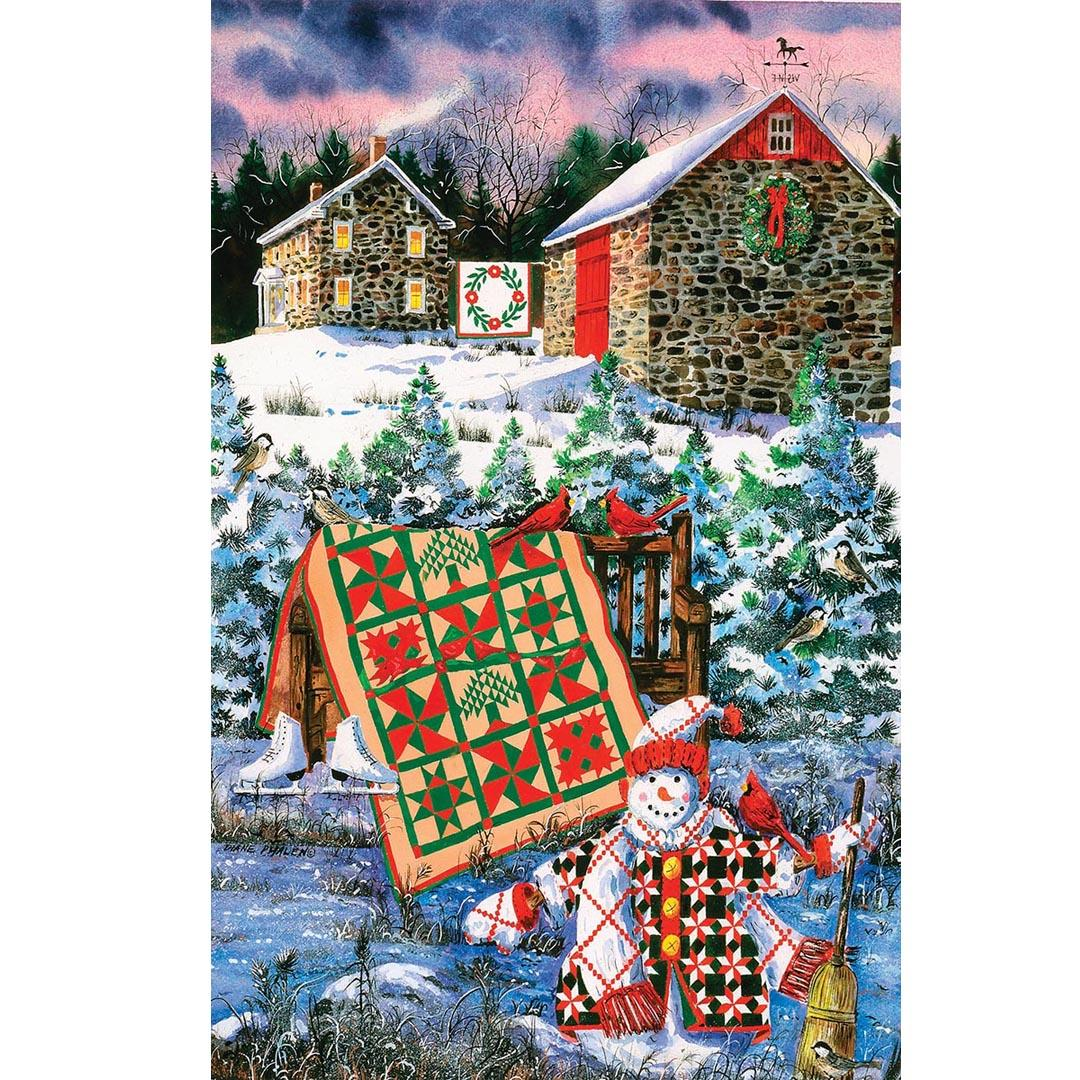 A Christmas Cheer Quilt Puzzle