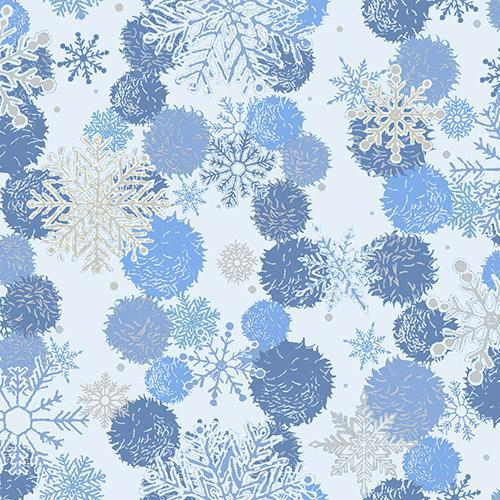 Blue Holiday - Paintbrush Studio - Blue Snowflakes