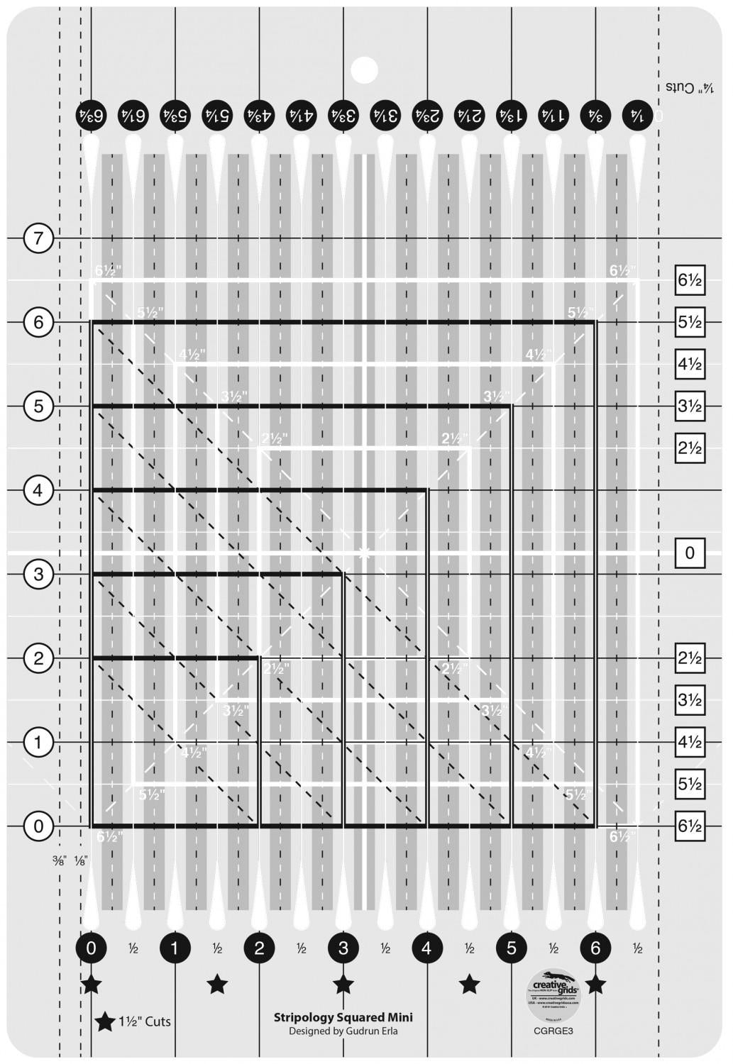Creative Grids - Stripology Mini Quilt Ruler