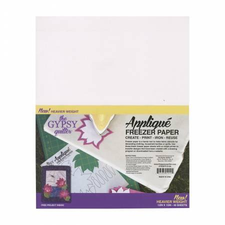 Gypsy Quilter Freezer Paper - 12in x 15in Heavy Weight - 40ct