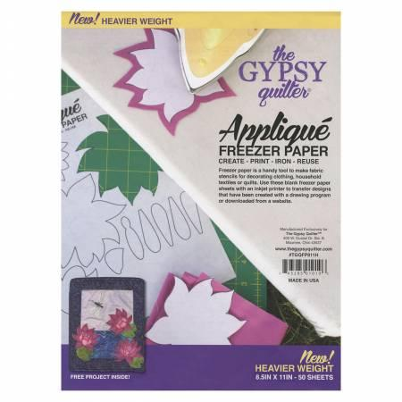 Gypsy Quilter Freezer Paper - 8 1/2in x 11in Heavy Weight - 50ct