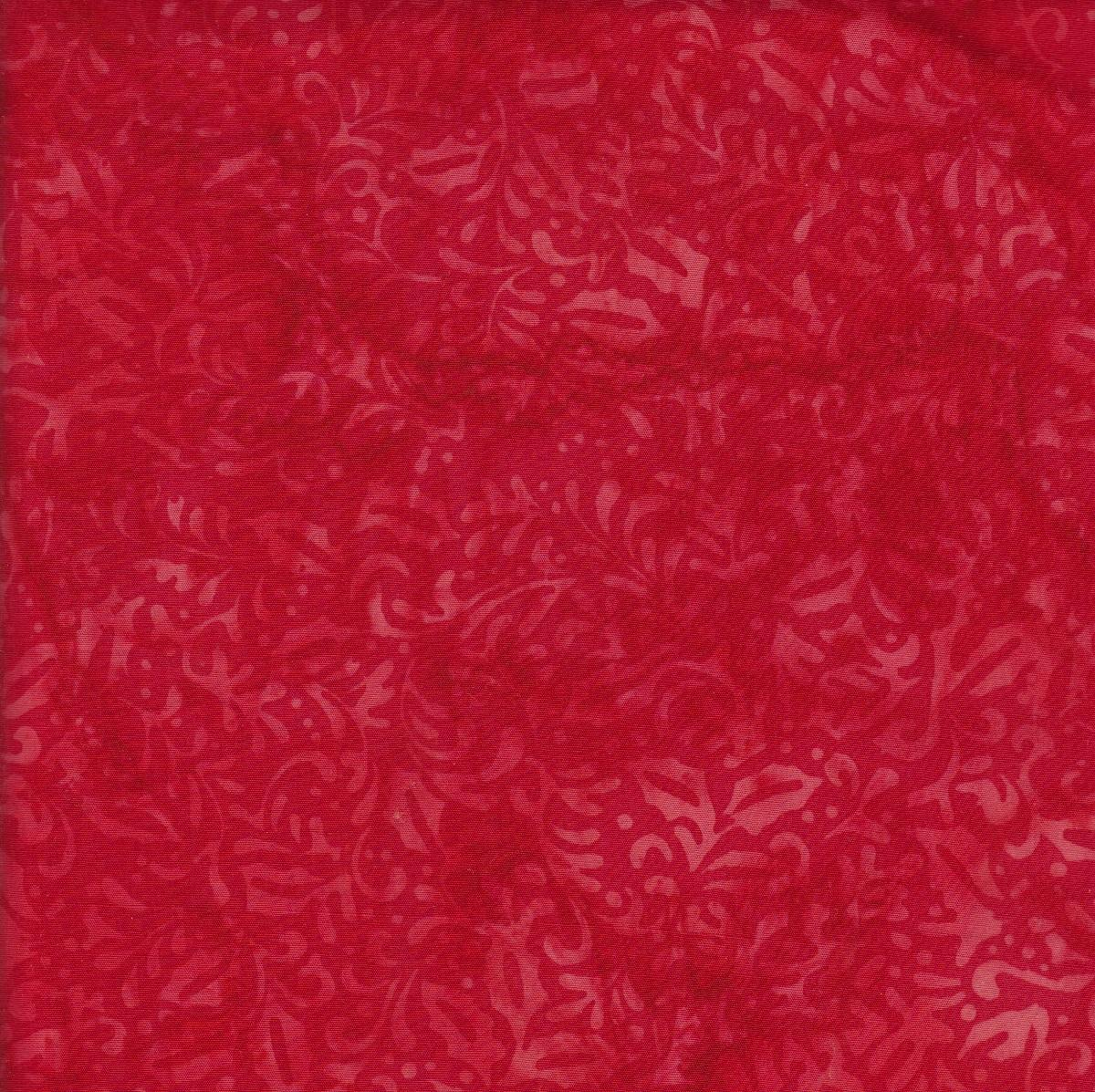 Island Batik - Holly - Red - Peace