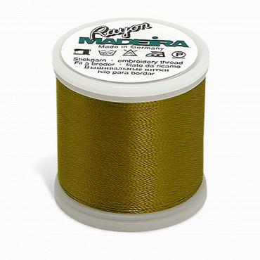Madeira Rayon - Machine Embroidery Thread - 220YD Spool - Gold Green