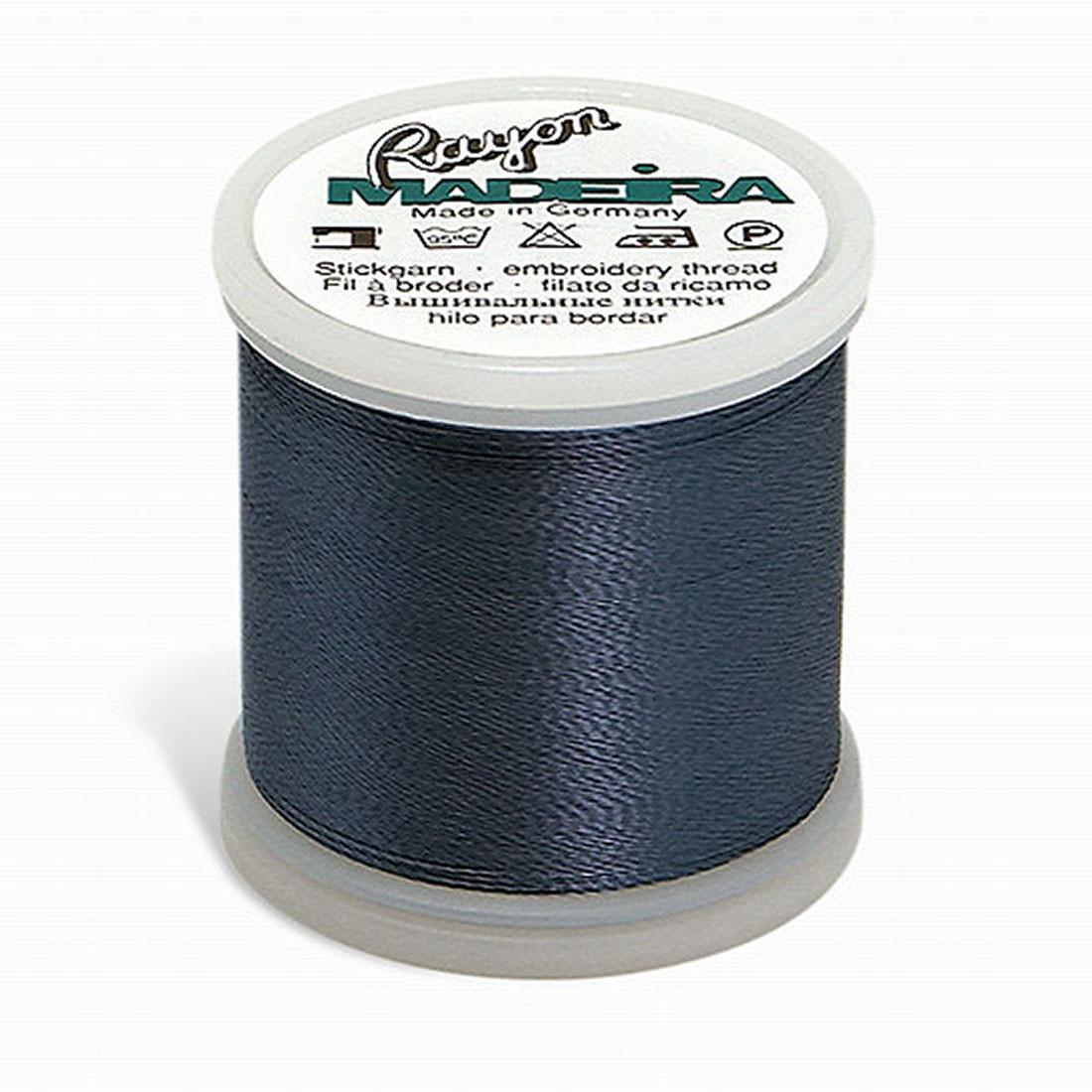 Madeira Rayon - Machine Embroidery Thread - 220YD Spool - Medium Weather Blue