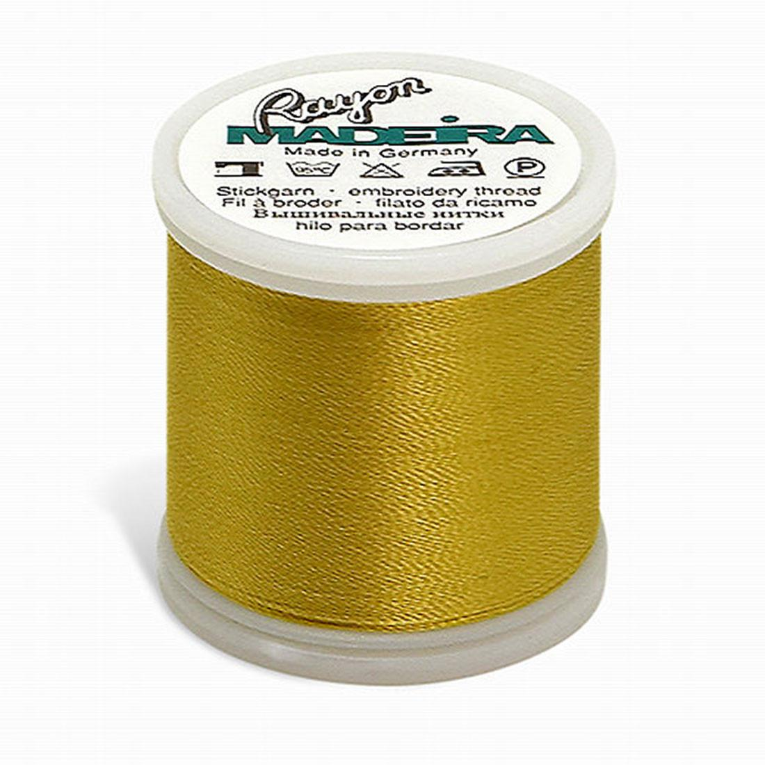 Madeira Rayon - Machine Embroidery Thread - 220YD Spool - Spark Gold