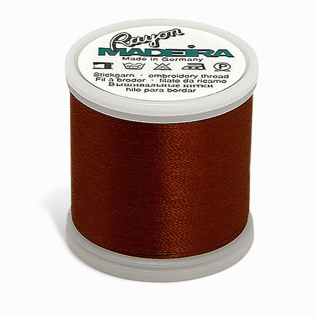 Madeira Rayon - Machine Embroidery Thread - 220YD Spool - Tawny Brown