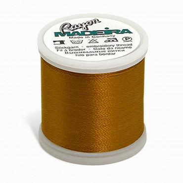 Madeira Rayon - Machine Embroidery Thread - 220YD Spool - Temple Gold
