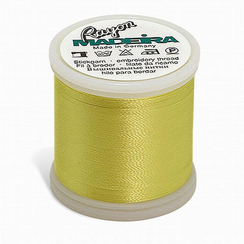 Madeira Rayon 220YD Color 1023 - Lemon Yellow