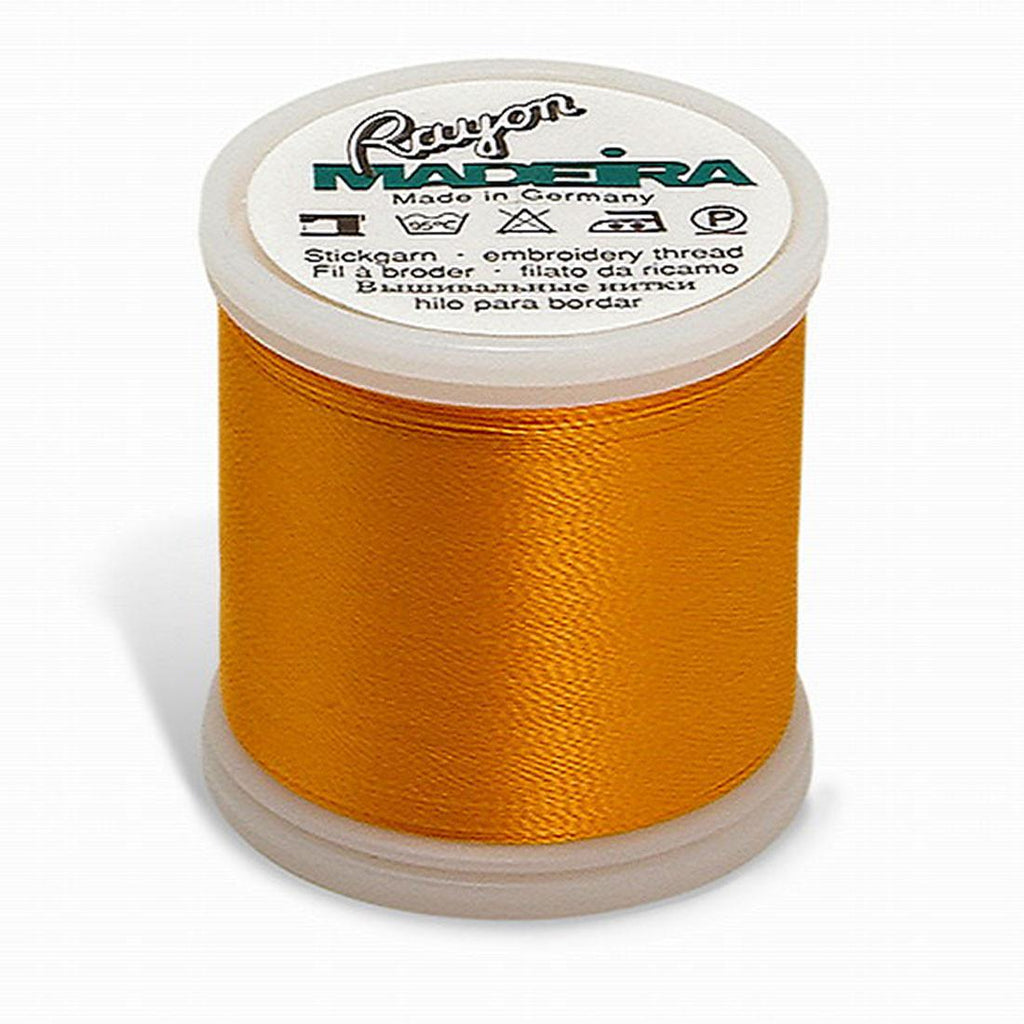 Madeira Rayon 220YD Color 1137 - Orange Yellow