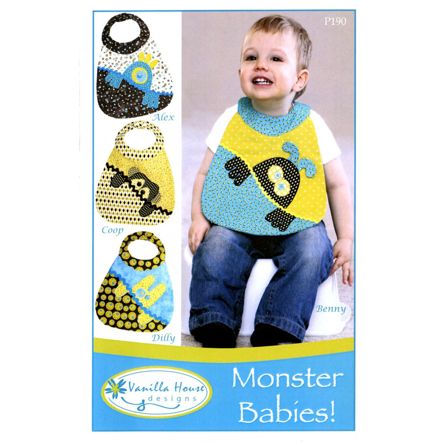 Monster Babies - Bib Pattern