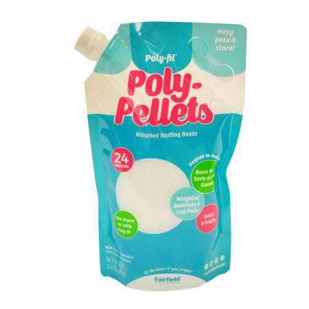 Poly Pellets Weighted Stuffing Beads - Easy Pour and Store - 24 oz