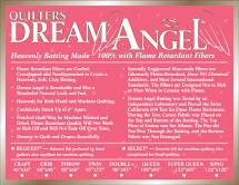 Quilters Dream - Angel - Crib -Fire Retardant