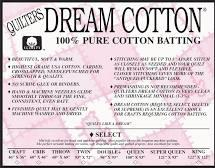 Quilters Dream - White - Cotton Batting